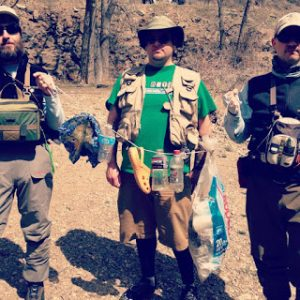 Tenkara Grasshopper, Denver Dobbins, Karel Lansky and the Trash Stringer
