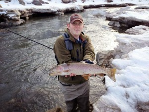 Jacob Johnson in Utah with a Tiny Fish Photo Courtesy of Tenkara USA